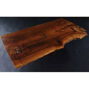 Mira nakashima minguren i walnut coffee table with three rosewood butterfly keys 1997 signed mira nakashima 1997 also marked with clients name 15 14 x 61 14 x 33 12