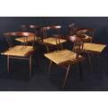 George nakashima set of six walnut grassseated chairs 27 12 x 23 x 19