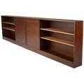 George nakashima wallhung walnut shelving unit with two sliding doors provenance available 40 x 160 x 11