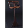 Studio carved rosewood music stand with perforated panel 45 x 19 x 11