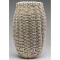 Rina peleg large woven bisquefired ceramic vessel 1980 provenance the derek mason and daniel jacobs collection 22 12 x 13