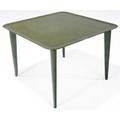 Billy haines occasional table in verdigris finish provenance original interior design for jack warners los angeles home manufacturers number stamp 19 x 26 12 sq