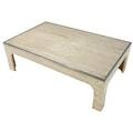 Willy rizzo travertine coffee table with steel trim 16 x 51 x 31 12