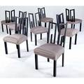James mont set of eight dining side chairs on ebonized frames with sateenupholstered seats 35 12 x 18 12 x 19
