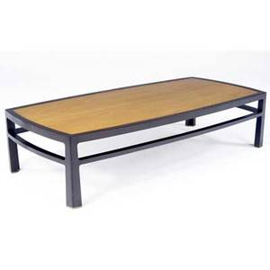 Edward wormley  dunbar monumental coffee table with oak veneer top on mahogany frame dunbar brass tag 17 x 72 x 35