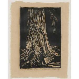 Wharton esherick woodblock print the song of the broad axe  ii ca 1924 from the collection of nathan and rose rubinson signed in pencil wharton harris esherick titled and numbered 3540 im