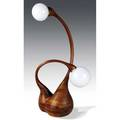 Robert worth carved and laminated oak floor lamp ca 1970 branded mark an accomplished craftsman robert worth led the woodcrafts department at the philadelphia college of art 58 x 24 x 21