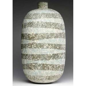 Claude conover large stoneware vase suhuy signed and titled 23 12 x 12