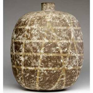 Claude conover large stoneware vessel saalal signed and titled 18 12 x 15