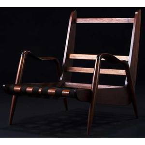 Phillip lloyd powell new hope chair in walnut with webbed seat support 32 x 29 12 x 30 12