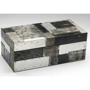 Paul evans argente patchwork aluminum box with antiqued interior small items of this type were a common staple in evans shop he always tried to have at least one on hand as they were both afforda