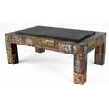 Paul evans coffee table covered in copper bronze and pewter patchwork with inset slate top from the collection of dorsey reading 16 12 x 44 x 26