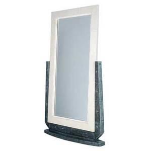 R  y augousti monumental green shagreen cheval mirror 75 x 40 x 7