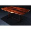 George nakashima exceptional frenchmans cove rosewood dining table its singleboard top with seven butterfly keys 1981 a very rare example of this form executed completely in rosewood provenance