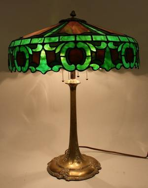 Early 20h C Duffner  Kimberly Table Lamp