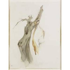Hope atherton american b 1974 untitled two unicorns from tree 2001 pastel and watercolor on paper framed signed and dated 30 x 22 12 sheet provenance elizabeth dee gallery new york
