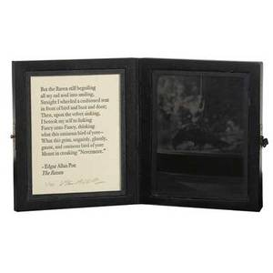 Vik muniz brazilian b 1961 two works of art crow 2005 ambrotype and letterpress in wood box signed and numbered 240 5 78 x 9 78 open 5 78 x 5 x 1 12 closed under the bed 2005