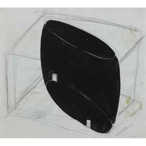 Jene highstein american b 1942 crosby street room 1998 ink and graphite on paper framed signed and dated 19 34 x 21 34 sheet provenance private collection