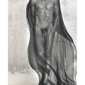 Herb ritts american 19522002 male torso with veil full length silverlake 1985 gelatin silver print framed signed dated titled and numbered 1425 18 14 x 14 34 sight provenance ch