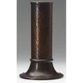 Roycroft hammered copper vase with collared and riveted base orb and cross mark 11 x 6