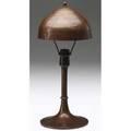 Roycroft hammered copper helmetshade lamp orb  cross mark 16 14 x 6 34