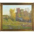 Alexis jean fournier 18651948 oil on canvas october at folsomdale framed signed lower left signed and titled on reverse 20 x 24