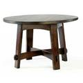 Gustav stickley early library table no 636 with arched stretchers and apron early large red decal 30 12 x 48