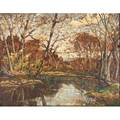 William fisher american 18911985 untitled oil on board both sides framed signed 24 x 30 provenance private collection new jersey