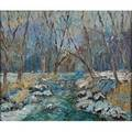 Don f kaiser american b 1958 creek near motts oil on canvas framed signed and titled 20 x 24 provenance private collection pennsylvania