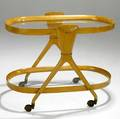 Ico and louisa parisi birch glass and brass bar cart unmarked 26 34 x 33 x 20 12