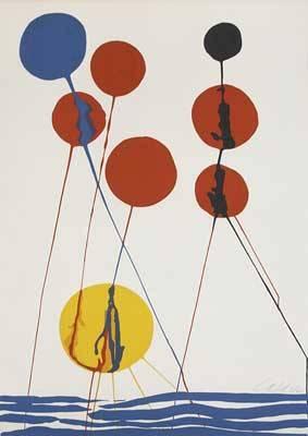 Alexander calder lithograph balloons signed calder in pencil 40 x 28 14