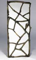 Phil powell mirror door with twig fretwork provenance powells home in new hope pa 69 14 x 30 12 x 5