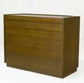Dunbar sixdrawer walnut chest the top fitted for jewelry 33 14 x 42 x 19