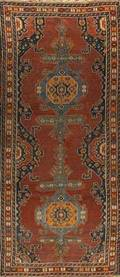 Caucasian shirvan narrow rug ca 1920 54 x 1110