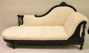 Pair of Carved Rosewood Chaise Lounges