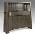 Limbert early chestnut sideboard with butterfly joinery paper label 57 x 51 x 20