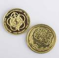 Two african gold coins 1916 egypt 100 piastres coin 900 fineness 85 gs au 50 royal mint suriname 500 guilders 916 fineness 798 gs proof