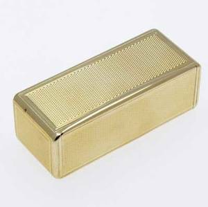 George iii gold snuff box 18k rectangular box with engineturned surfaces london 1803 unrecognized maker ia 929 gs 3 x 1 16 x 1 14