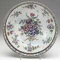 Chinese export famille rose punch bowl late 18th c floral banded border with gold highlights and decorated interior 6 x 14 dia