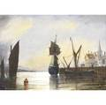 William edward norton american 18431916 untitled two harbor scenes watercolor on paper framed 8 x 11 and 11 x 8 sight