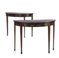 Pair of adams style console tables 19th20th c 29 34 x 39 x 14 34