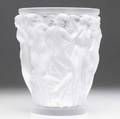 Lalique bacchantes vase 20th c molded with scenes of dancing nude women signed lalique france 9 58