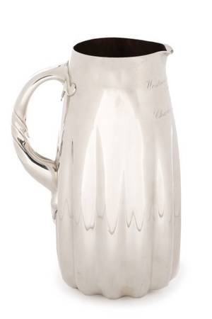 1888 Whiting Aesthetic Sterling Silver Pitcher