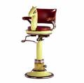 Childs barber chair with figural horses head 20th c 46 x 21 x 26