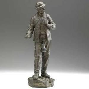 Eurtrope bouret french 18331906 bronze sortie de la mine ht 16