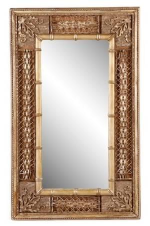 Aesthetic Movement Gilt Wood Wall Mirror