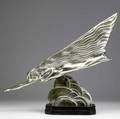Maurice guiraudriviere frenc 18811947 la comte ca 1925 silvered bronze on marble base signed guiraud riviere and with foundry mark etling paris 18 12 high foundry etling paris pro