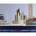 Ronald mallory american b 1939 us america pier 58 1982 oil on canvas framed signed dated and titled 35 78 x 44 provenance private collection new york