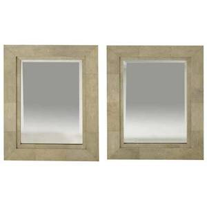 R  y augousti pair of shagreen wallhanging mirrors r  y augousti metal tags 35 34 x 27 34