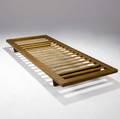 Borge mogensen  erhard rasmussen daybed in white oak with slatted frame erhard rasmussen paper label 7 x 76 12 x 33